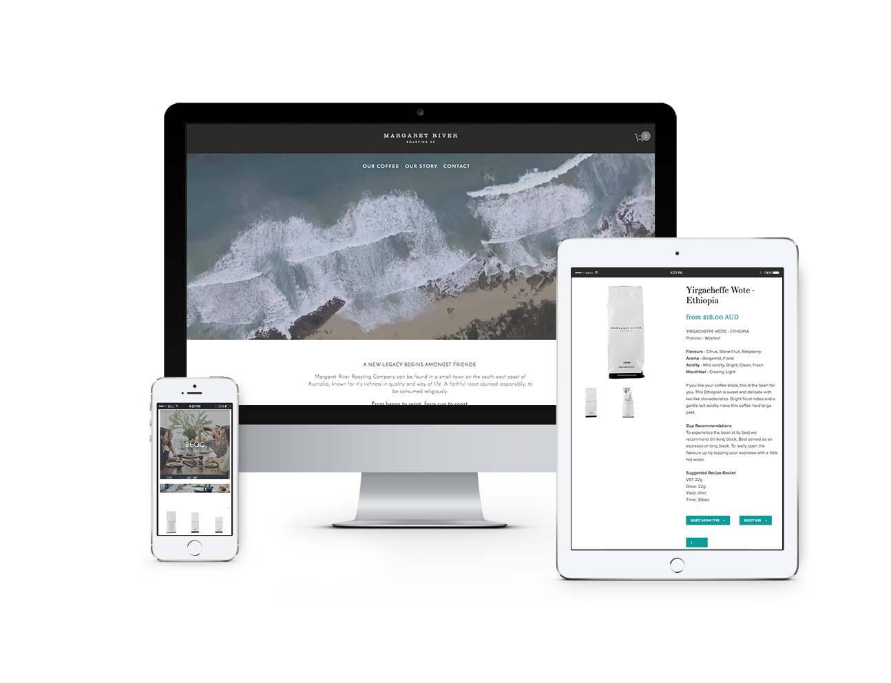 Margaret River Roasting Company | Showcase Website | Bold Branding & Custom Squarespace Designs | Sofia Parker Creative Studio | www.sofia-parker.com