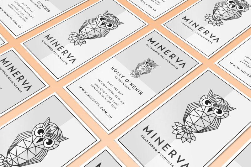 Minerva Accounting | Business cards | Bold Branding & Custom Squarespace Designs | Sofia Parker Creative Studio | www.sofia-parker.com
