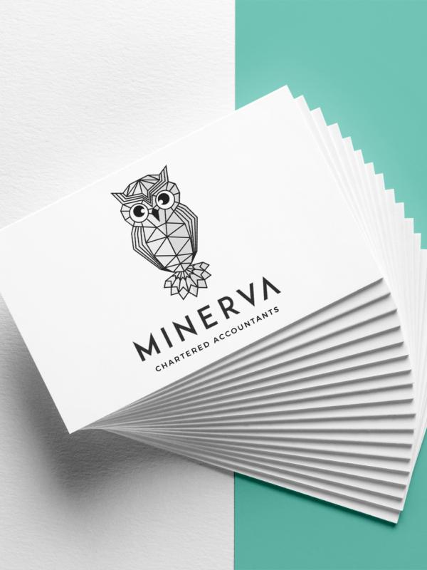 Minerva Accounting | Branding Business Cards | Bold Branding & Custom Squarespace Designs | Sofia Parker Creative Studio | www.sofia-parker.com
