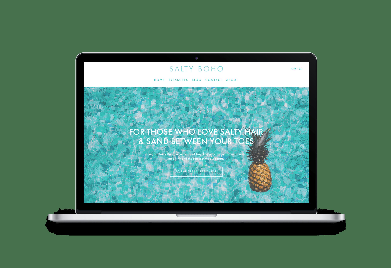 Salty Boho | Website + Branding | Bold Branding & Custom Squarespace Designs | Sofia Parker Creative Studio | www.sofia-parker.com