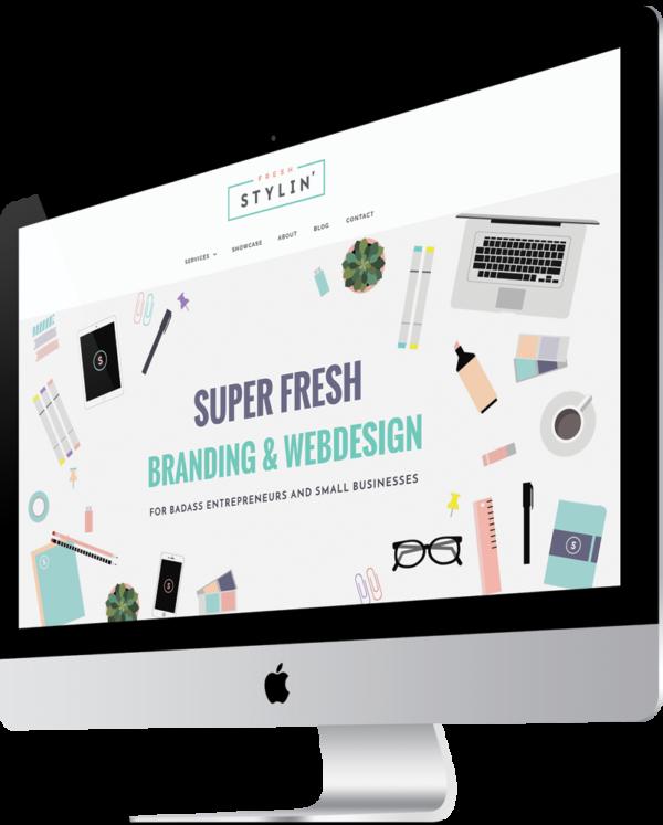 Website iMac Showcase | Bold Branding & Custom Squarespace Designs | Sofia Parker Creative Studio | www.sofia-parker.com