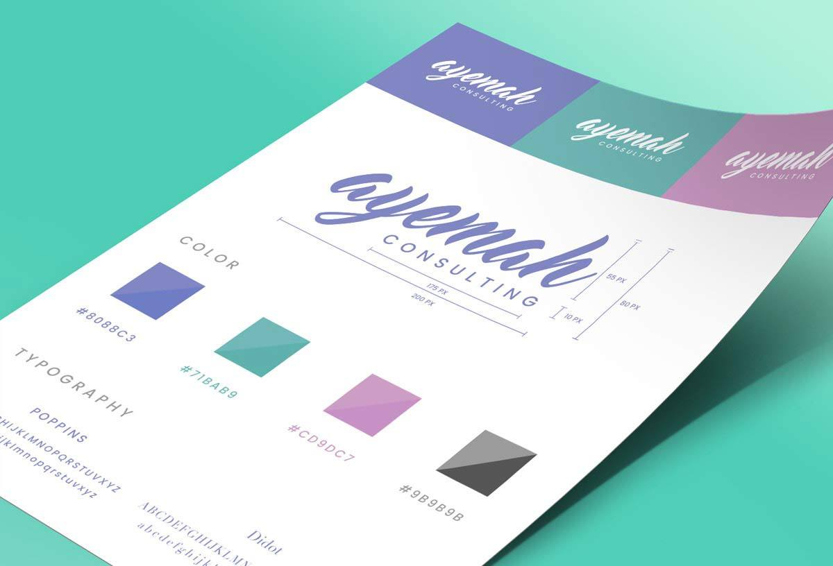 Ayemah | Style Guidelines / Brand Identity | Bold Branding & Custom Squarespace Designs | Sofia Parker Creative Studio | www.sofia-parker.com