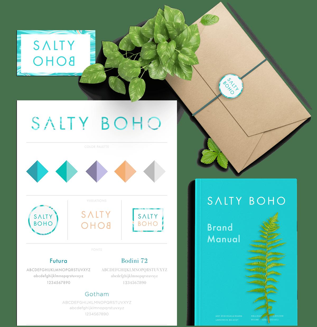 Salty Boho Branding Kit | Bold Branding & Custom Squarespace Designs | Sofia Parker Creative Studio | www.sofia-parker.com